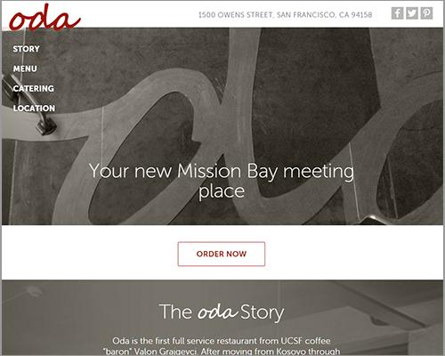 Oda - Web Design